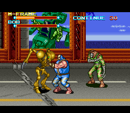 The other hidden character is an enemy robot reprogrammed to fight for  justice.